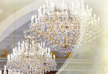 Tereziánské lustry křišťálové